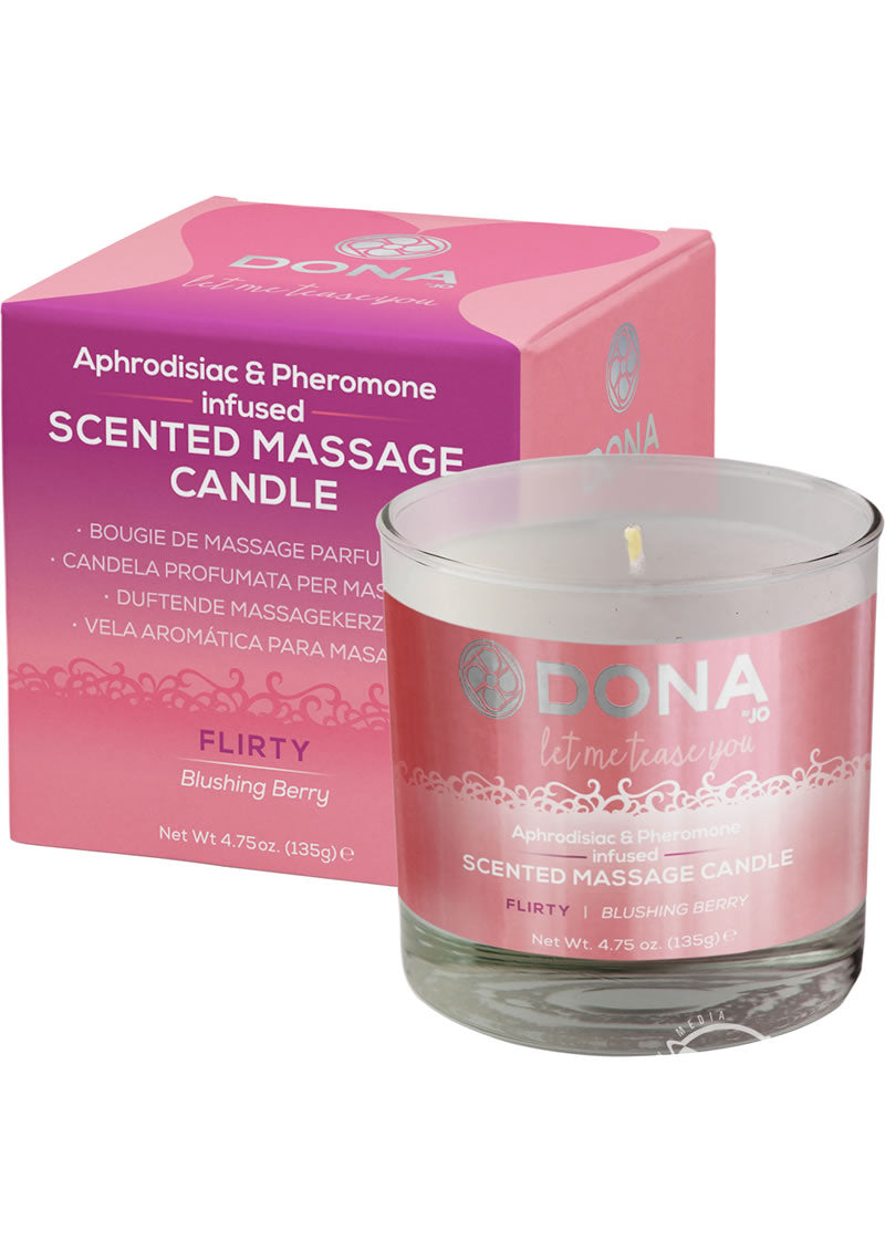 Massage Candle Blushing Berry 4.75 Oz