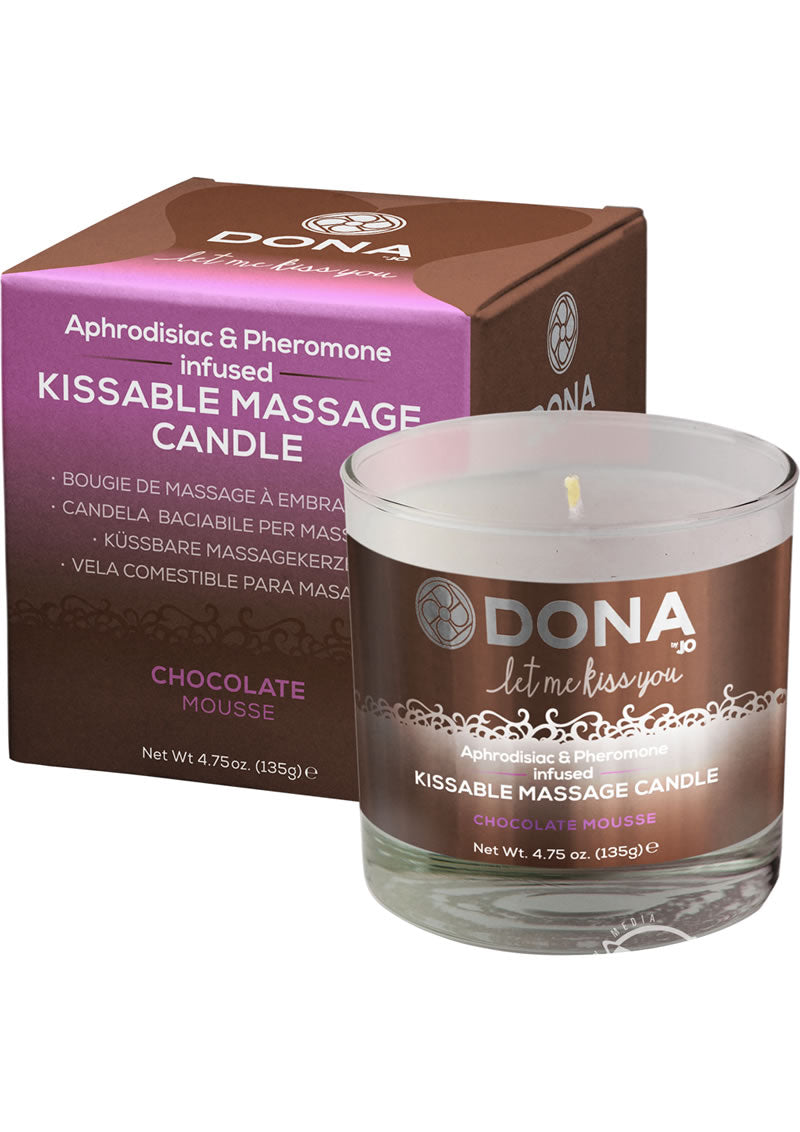 Kissable Massage Candle Choc 4.75oz(disc