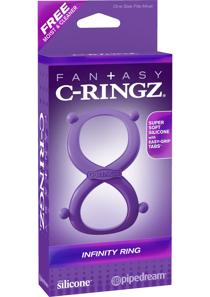 Fantasy C Ringz Infinity Ring Silicone Cockring Purple