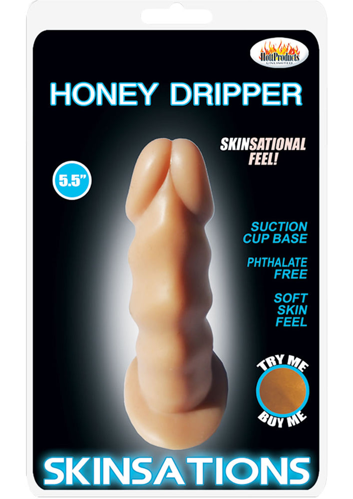 Skinsations Honey Dripper Dildo Flesh 5.5 Inch