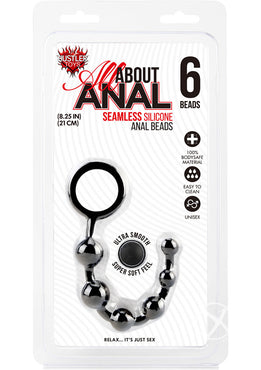 Hustler Anal Beads 6 Ball Black Silicone