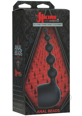 Kink Anal Beads Wand Attachmnt Blk(disc)
