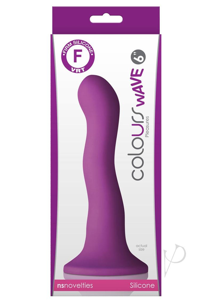 Colours Wave 6 Inch Dildo Purple
