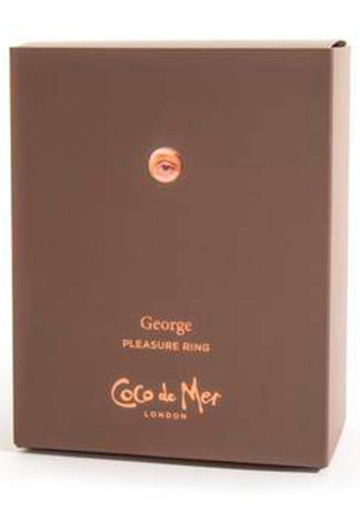 Coco De Mer George Pleasure Ring USB Rechargeable Silicone Cock Ring Brown