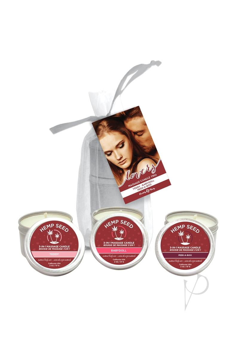 Lovers Massage Candle Trio Set(disc)