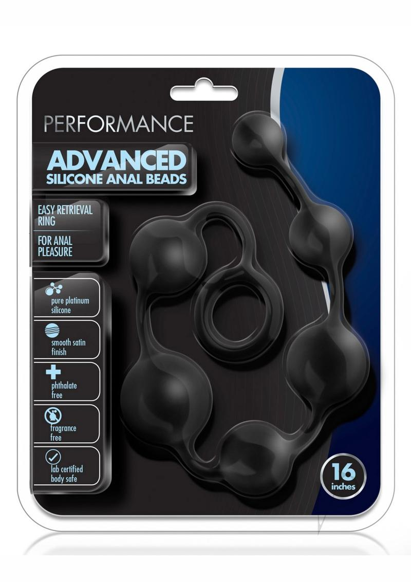 Performance Silicone Anal Beads 16 Blk