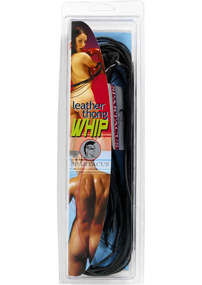 Leather Thong Whip 30 Inch Black