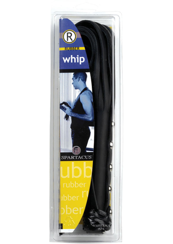 Rubberline Strap Whip 20 Inch Black