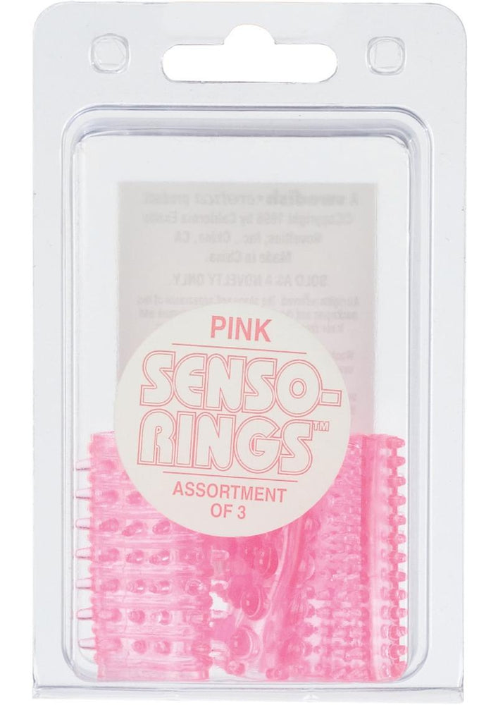 Sensi Rings Pink 3 Pack For Use On Penis Or Vibrator