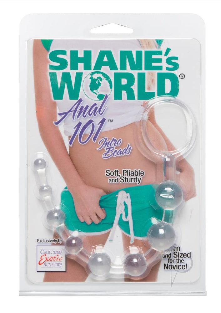 Shanes Anal 101 Intro Beads Clear