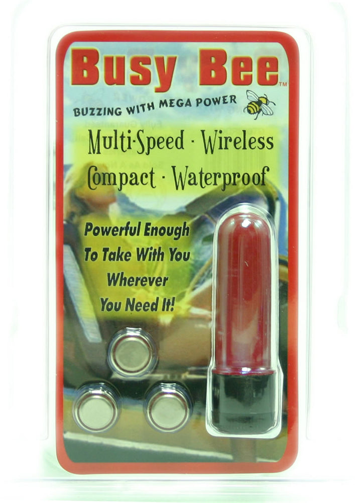 BUSY BEE MULTISPEED BULLET RED WATERPROOF