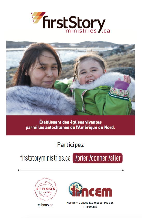 Firststory Ministries bulletin insert (French)