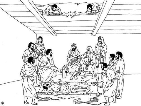 Bible Pictures - B&W Line Drawings