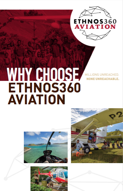 "Ethnos360 Aviation ""Why Choose Ethnos360 Aviation"" brochure cover"