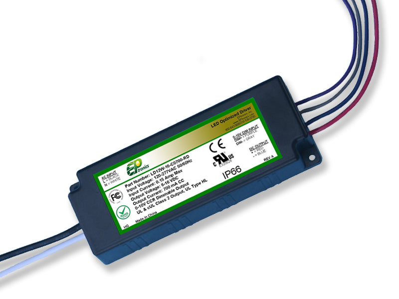 LD Series 12 Watt AC/DC LED Driver (Constant Current, Dimming Options, UL Recognized) - LiteControls