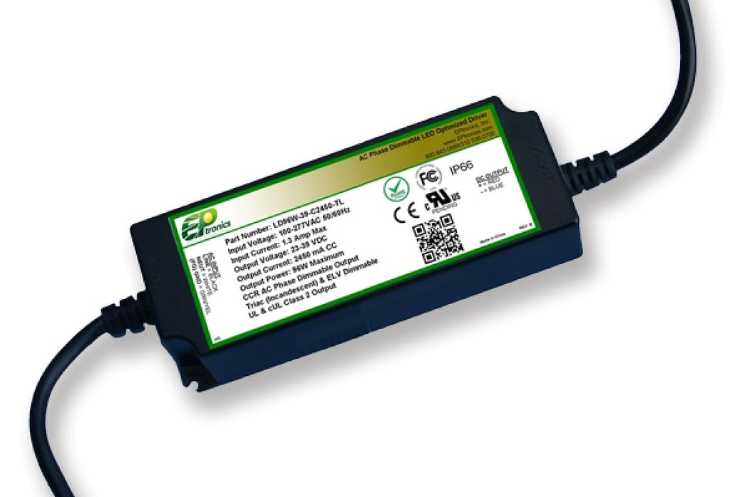 LD Series 96 Watt AC/DC LED Driver (Constant Current, TRIAC/ELV Dimming, UL Recognized) - LiteControls