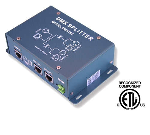 DMX Signal Splitter (RJ45 & XLR3, ETL Recognized) - LiteControls