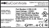Zigbee Certified 12VDC Indoor Lighting Controller (Low Voltage, Dimming, UL Listed)