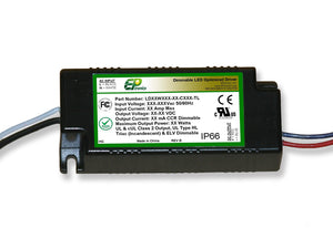 LD Series 20 Watt AC/DC LED Driver (Constant Current, TRIAC/ELV Dimming, UL Recognized)