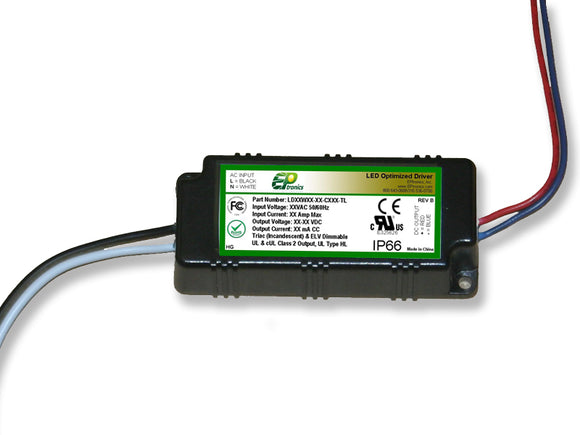LD Series 12 Watt AC/DC LED Driver (Constant Current, TRIAC/ELV Dimming, UL Recognized)