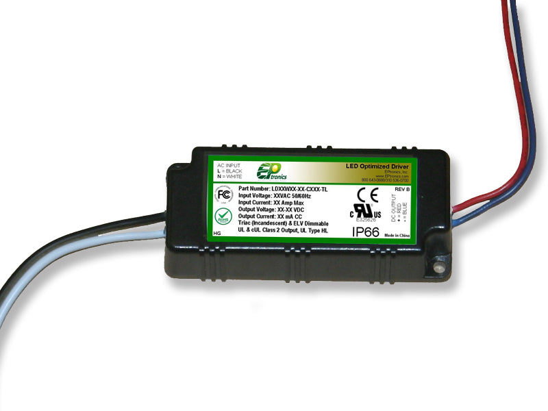 LD Series 9 Watt AC/DC LED Driver (Constant Current, TRIAC/ELV Dimming, UL Recognized) - LiteControls