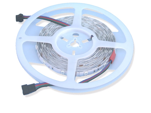 "RGB LED Strip (24V, Outdoor, Single Density, 16'4"" Reel) - LiteControls"