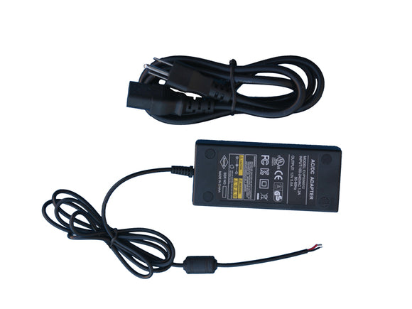 60W 12V AC/DC Power Supply (UL Listed)
