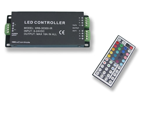 LED Controller w/ IR Remote (3 Channels – RGB)