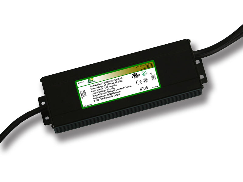 LD Series 120 Watt AC/DC LED Driver (Constant Voltage, UL Recognized) - LiteControls