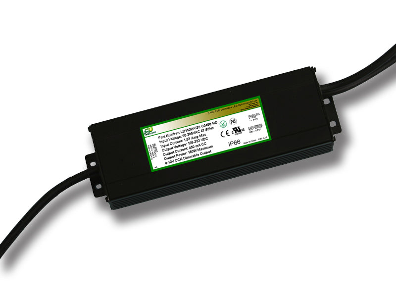 LD Series 150 Watt AC/DC LED Driver (Constant Current, Dimming Options, UL Recognized, Legacy) - LiteControls