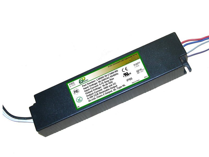LN Series 50 Watt AC/DC LED Driver (Constant Current, Dimming Options, UL Recognized, Low Cost) - LiteControls