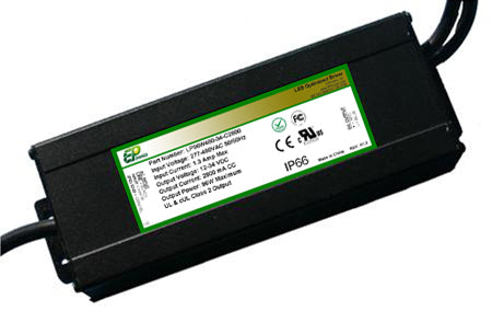 LP Series 96 Watt AC/DC LED Driver (Constant Current, Dimming Options, 347–480VAC Input, UL Recognized)