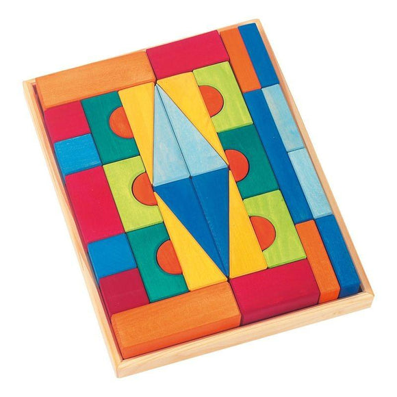 Gluckskafer Building Blocks in Tray - Toskana Large (36pcs)