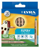 LYRA Ferby Short® Coloured Pencil (12 Colours)