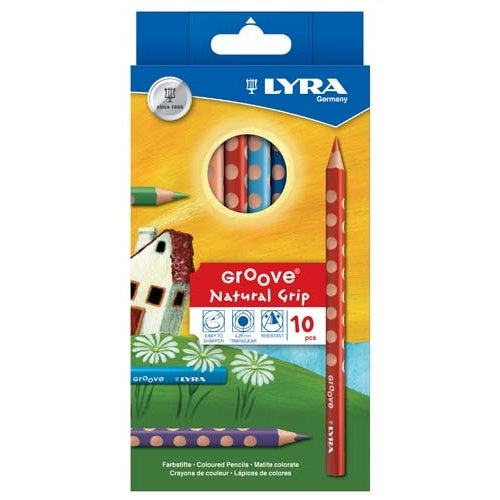 LYRA Groove Coloured Pencil (10 Colours)