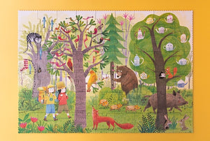 Day and Night In the Forest Reversible Puzzle (50 pieces)