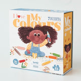 Londji I Love My Colours Reversible Shapes Puzzle (21 pieces)