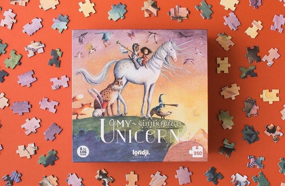 My Unicorn Puzzle with Glitter (350 pieces)