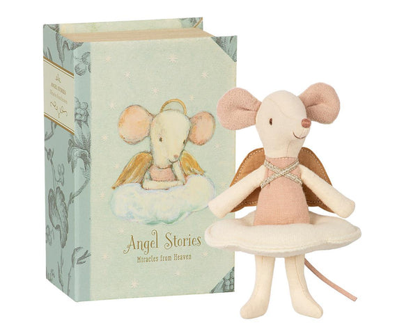 Maileg Big Sister Mouse - Angel in Book