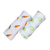 Organic Swaddle Set - My First Food (Avocado / Carrot)