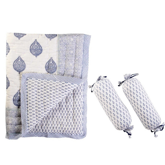 Fort Reversible Quilt & Bolster Set