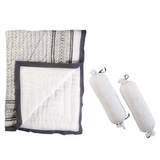 Greenwich Reversible Quilt & Bolster Set