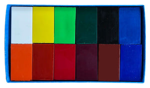 Stockmar Block Wax Crayon (12 Colours in Cardboard Box)