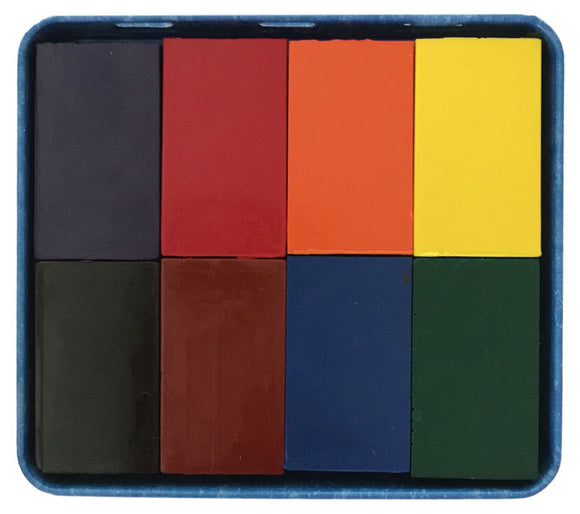 Stockmar Block Wax Crayon with Black (8 Colours in a Tin)