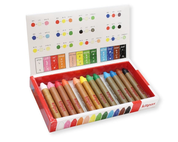 Kitpas Art & Window Crayon (12 Colours)