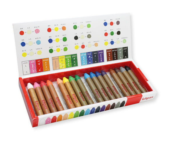 Kitpas Art & Window Stick Crayon - Medium (16 Colours)