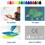 Kitpas Art & Window Stick Crayon - Medium (12 Colours)