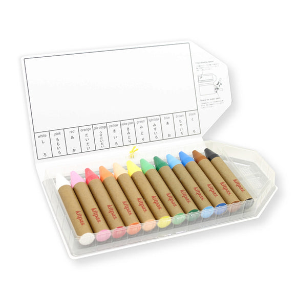 Kitpas Art & Window Crayon - Large (12 Colours)