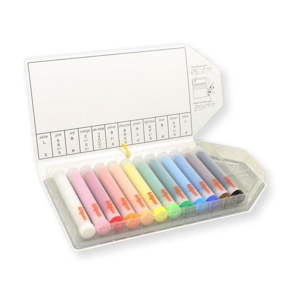 Kitpas Art & Window Stick Crayon with Holder - Medium (12 Colours)