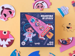 Valentina In Space Reversible Shapes Puzzle (24 pieces)